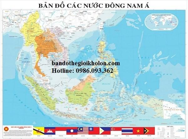 Ban do cac nuoc Dong Nam A