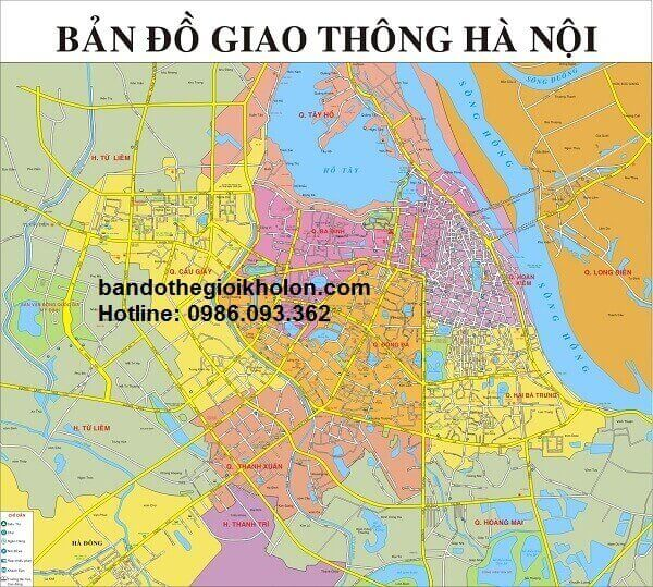 ban do giao thong Ha Noi