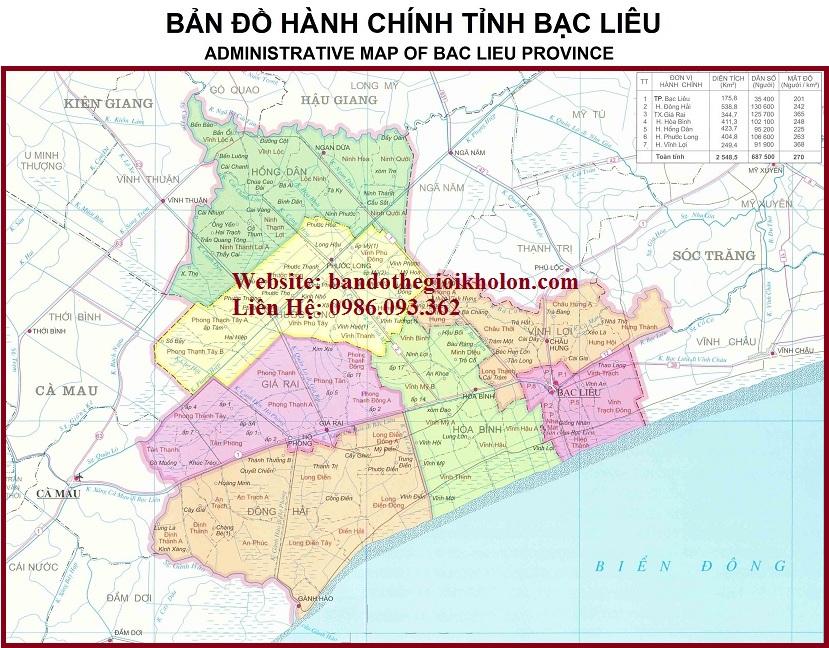 ban do hanh chinh tinh bac lieu