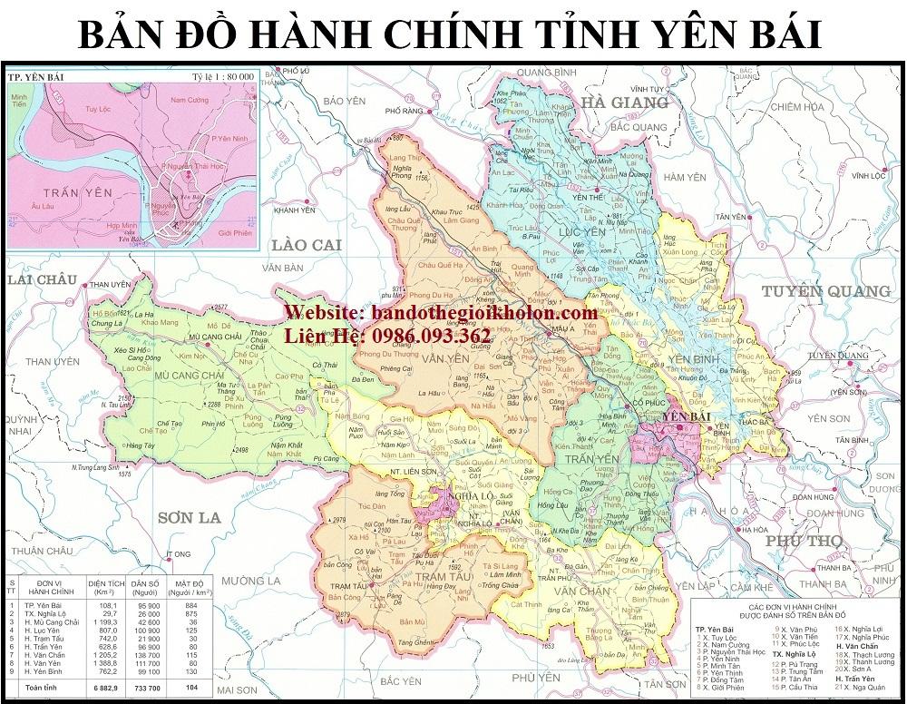 ban do hanh chinh tinh yen bai