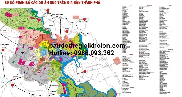 ban do so do phan bo cac du an tren dia ban thanh pho