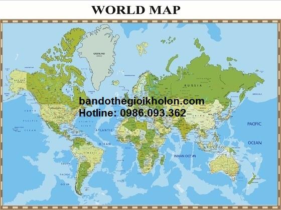 Bản đồ thế giới khổ lớn mẫu 24