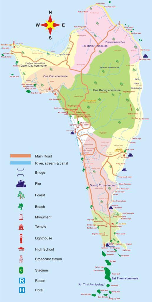 Cùng khám phá Phú Quốc bằng bản đồ Phú Quốc