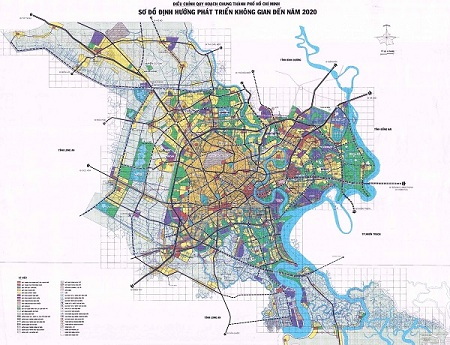 bản đồ định hướng phát triển không gian tphcm đến 2025