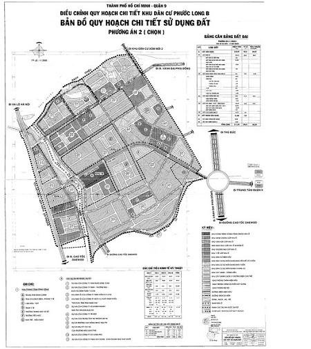 bản đồ quy hoạch phường phước long B