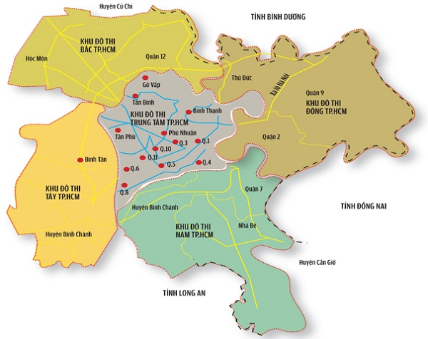 Hình ảnh bản đồ tp hcm chi tiết online