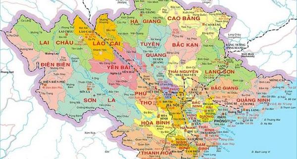 bản đồ các tỉnh miền bắc giúp bạn đưa ra chiến lược kinh doanh hoàn hảo