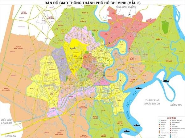 hình ảnh bản đồ gioa thông Hồ Chí Minh