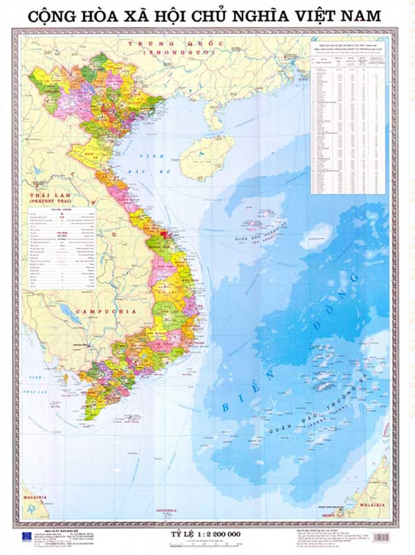 Thông tin cập nhật bản đồ Việt Nam mới nhất