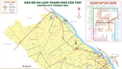 Bản đồ chỉ đường khi đi du lịch Cần Thơ