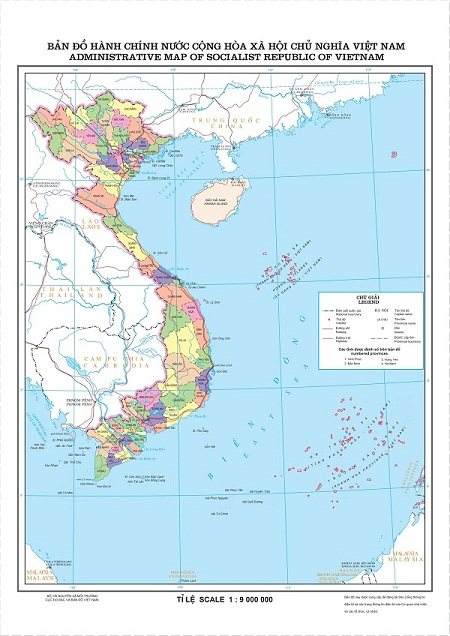 Hình ảnh bản đồ địa giới hành chính Việt Nam mẫu mới nhất