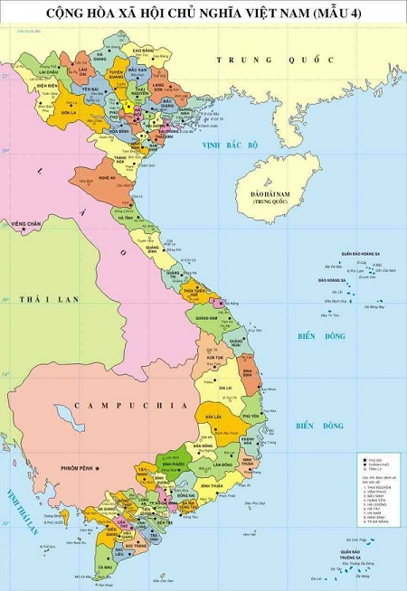 Hình ảnh bản đồ địa giới hành chính Việt Nam mẫu số 4