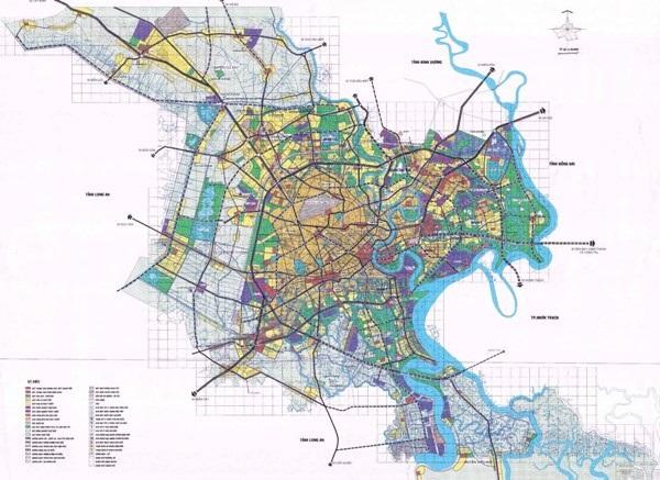 Hình ảnh bản đồ quy hoạch toàn thành phố Hồ Chí Minh