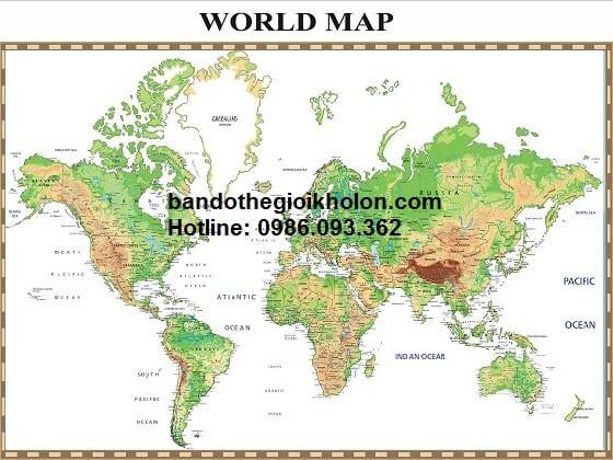 Bán bản đồ thế giới khổ lớn tại TP.HCM