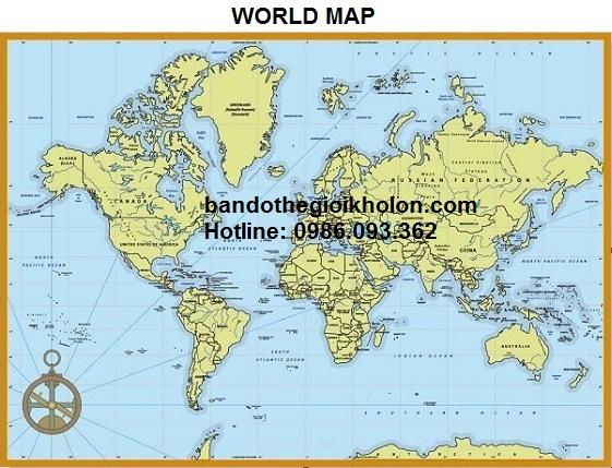 mua bản đồ thế giới ở đâu giá rẻ
