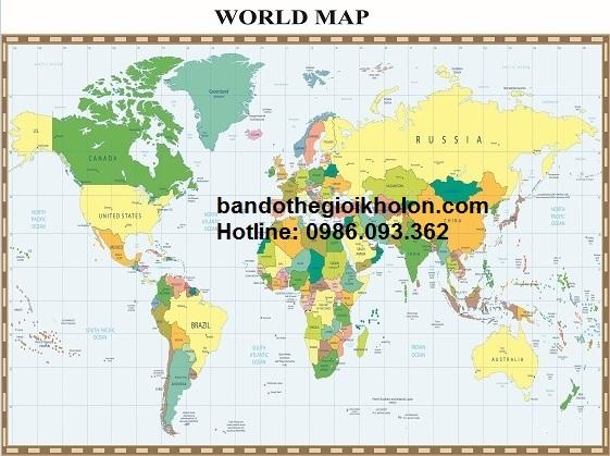Mua bản đồ thế giới ở đâu giá rẻ tại tphcm