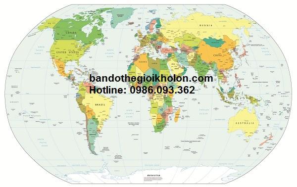 Bản đồ thế giới bán ở đâu tại TP. HCM