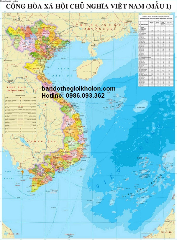 Bán bản đồ việt nam cỡ lớn tại Hà Nội giá rẻ