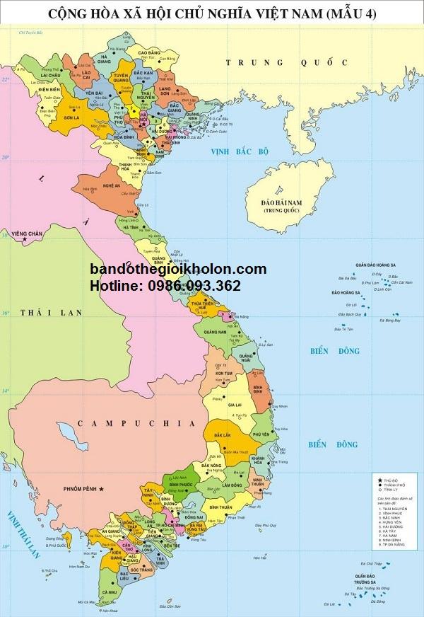 Bán bản đồ việt nam cỡ lớn tại Hà Nội