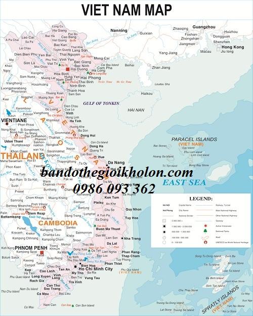 Nơi bán bản đồ việt nam khổ lớn tại Hà Nội