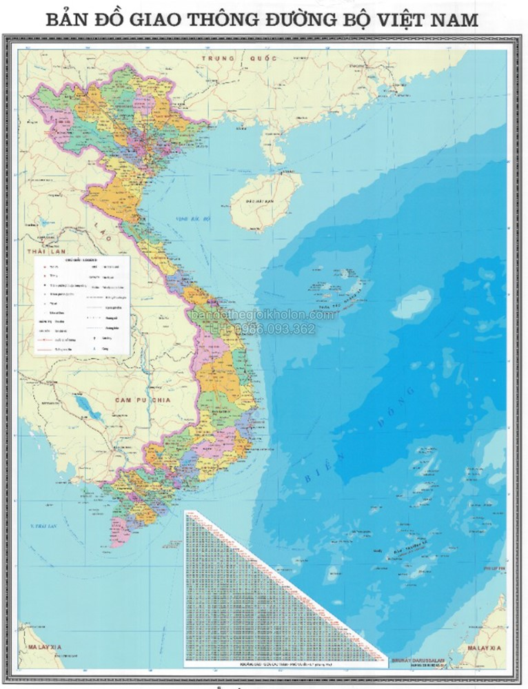 Bản đồ Giao thông Việt Nam đến 2030