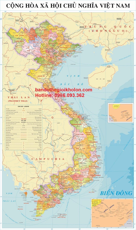 Bản đồ Việt Nam khổ lớn mẫu 13