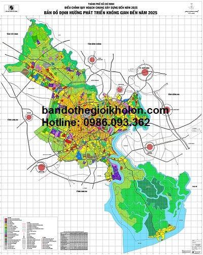 bán bản đồ quy hoạch tphcm đến 2025
