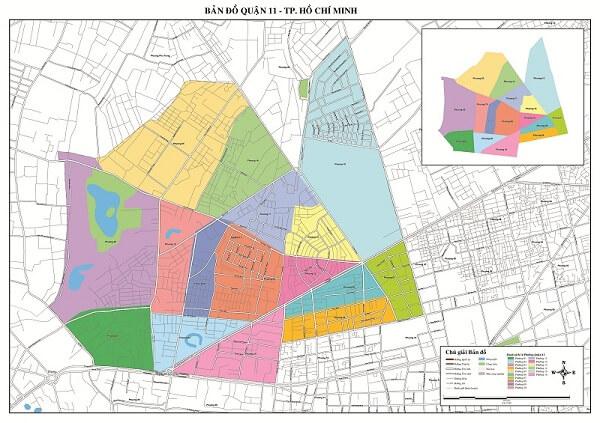 bản đồ hành chính giao thông quận 11