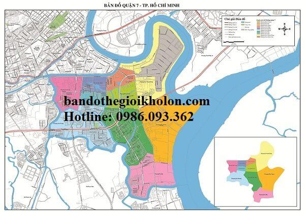 Bản Đồ Quận 7-Thành Phồ Hồ Chí Minh