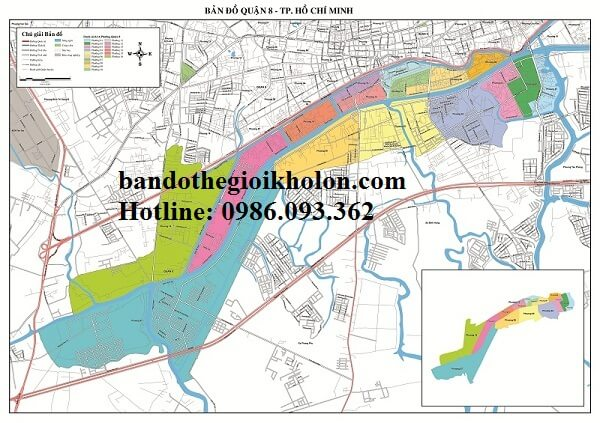 Bản Đồ Quận 8 – Thành Phồ Hồ Chí Minh
