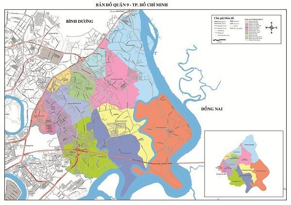 bản đồ hành chính giao thông quận 9