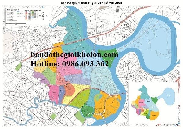 Bản Đồ Quận Bình Thạnh- Thành Phồ Hồ Chí Minh