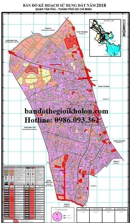 Bản Đồ Quy Hoạch Sử Dụng Đất Quận Tân Phú