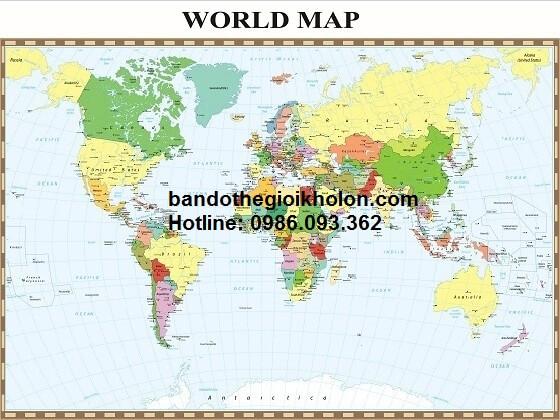 Bản đồ thế giới tiếng Anh bán ở đâu