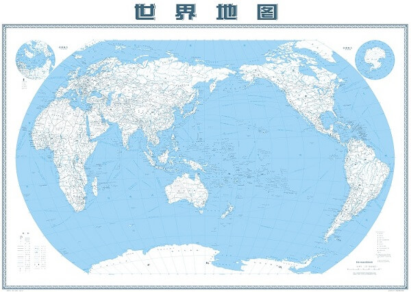 Bản đồ thế giới bằng tiếng Trung và những thông tin cần biết