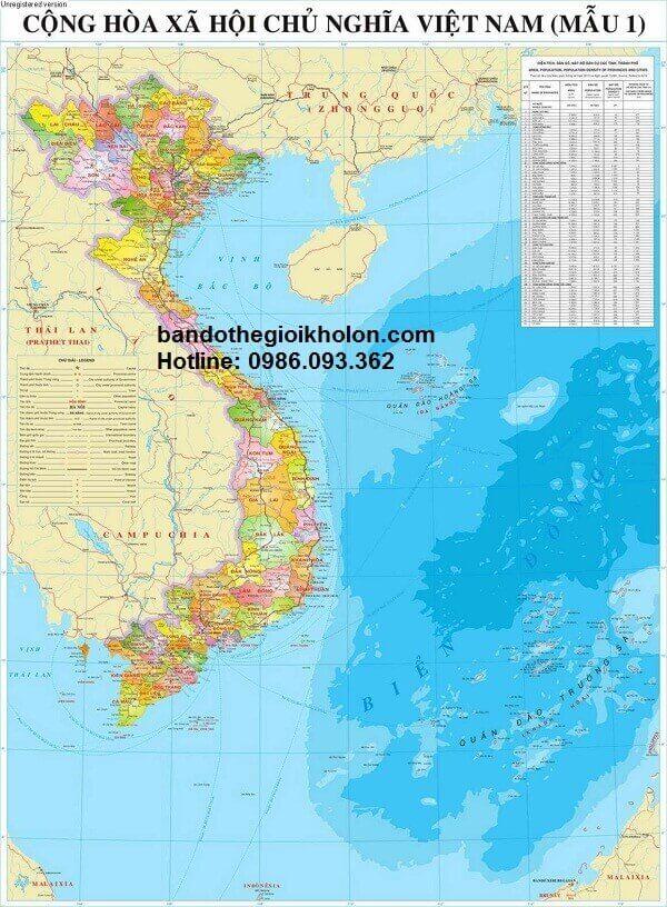 Địa chỉ bán bản đồ việt nam tại TP.HCM uy tín chất lượng