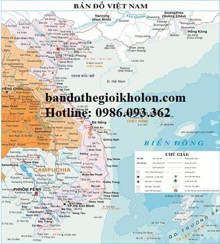 Bản đồ Việt Nam tiếng anh cho du khách nước ngoài
