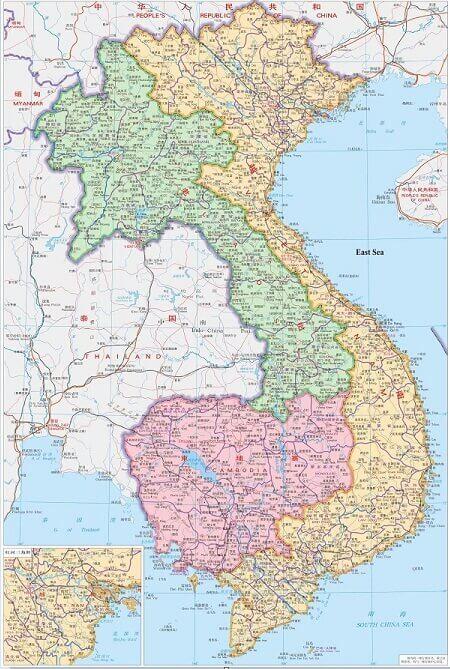 bản đồ Việt Nam tiếng Trung