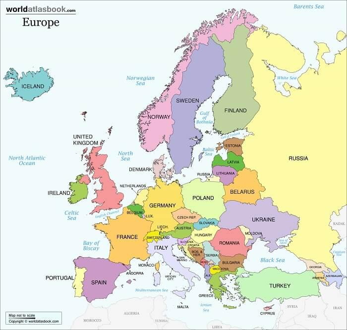 Bản đồ Châu Âu có gì thú vị