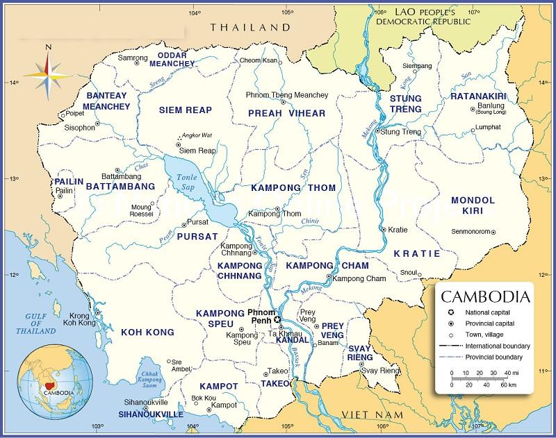 bản đồ Campuchia