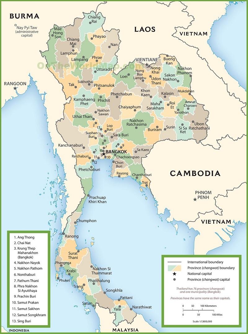 Bản Đồ Thái Lan Cho Khách Du Lịch