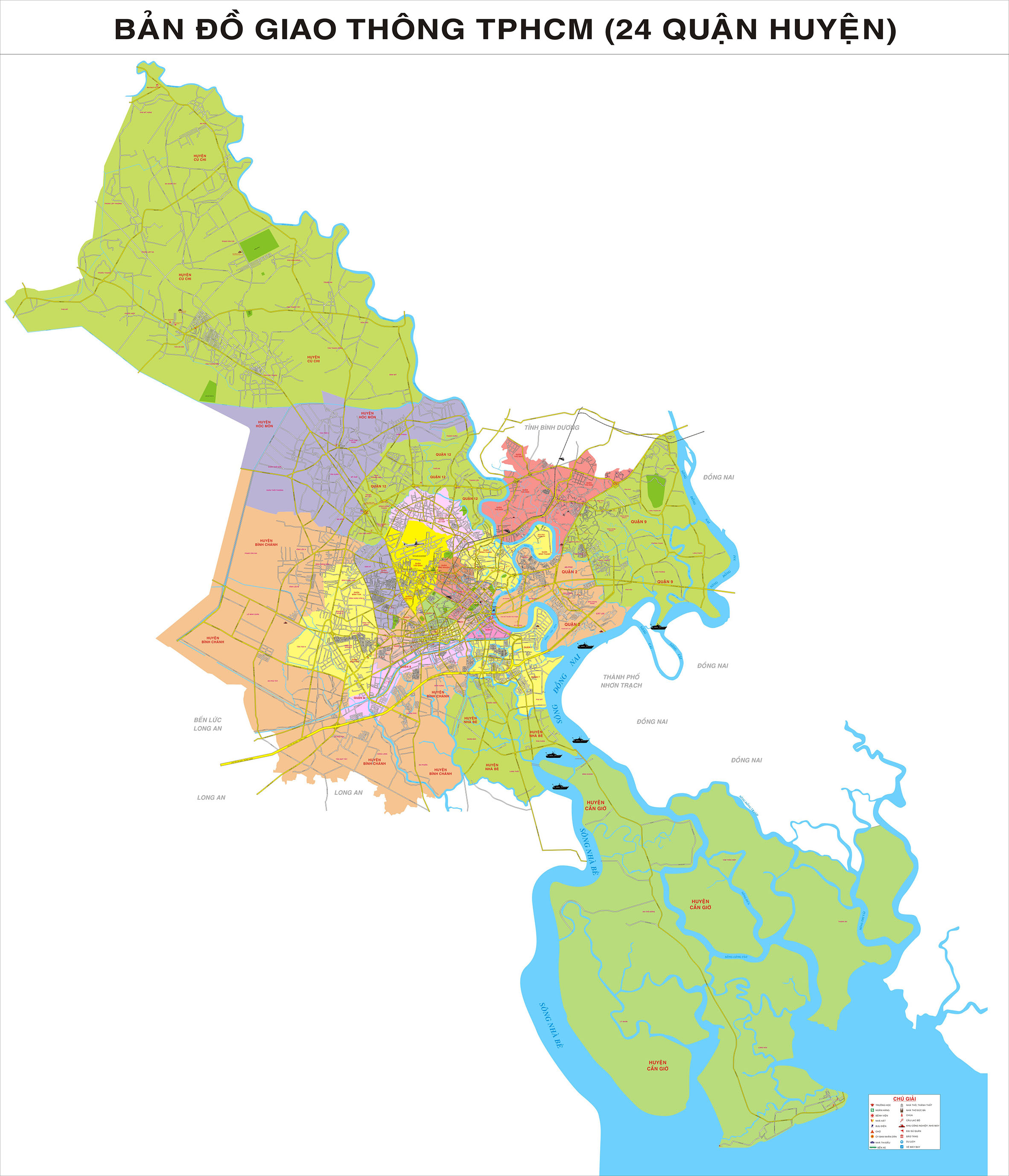 Bản Đồ Sài Gòn Và Những Đổi Thay Ngày Nay