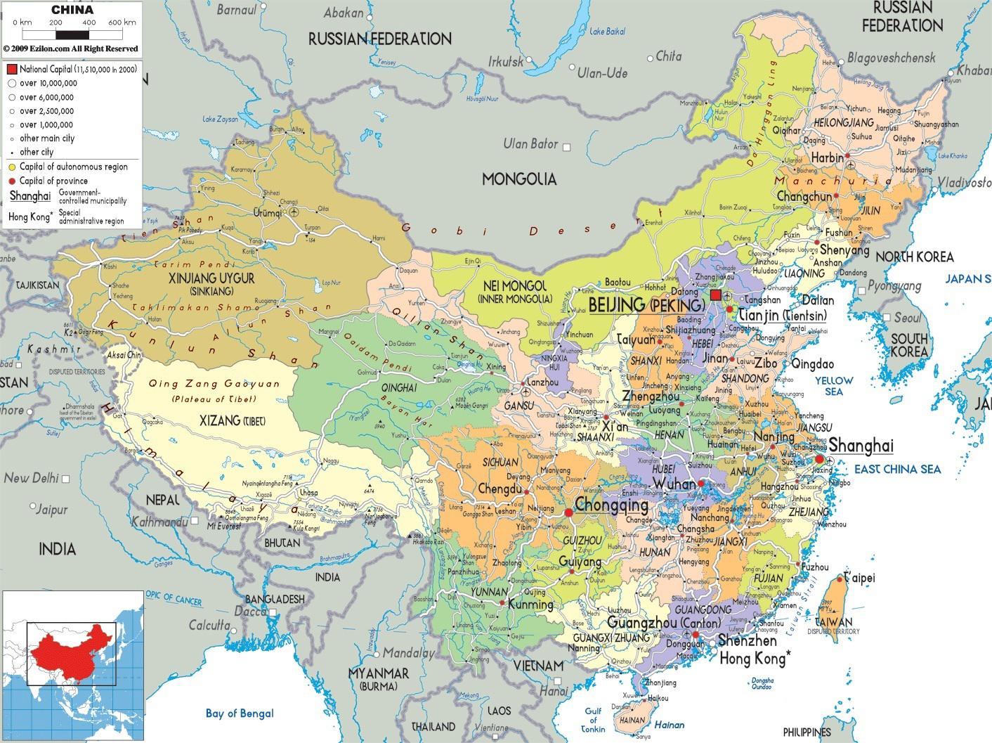 Bản Đồ Trung Quốc Ở Vị Trí Nào Thuộc Châu Á
