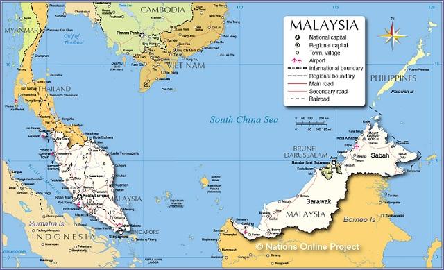 ban do nuoc malaysia