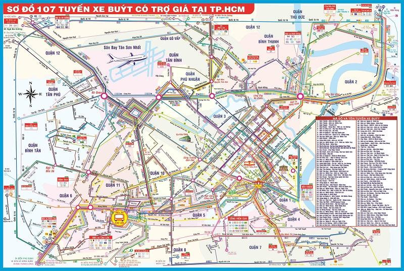 Tìm Hiểu Bản Đồ Xe Bus TP Hồ Chí Minh