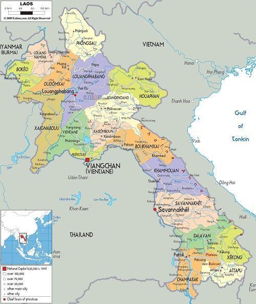 lao map