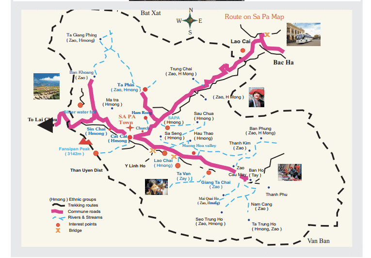 Sapa Tourist Map