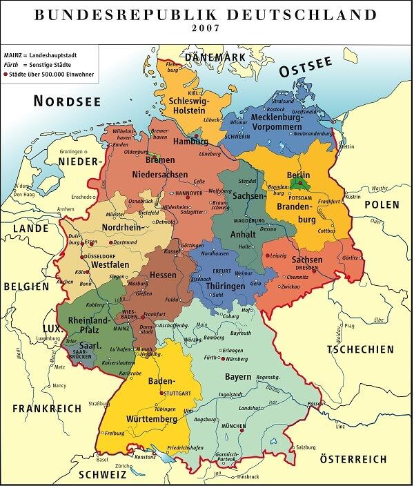 Các Loại Bản Đồ Nước Đức