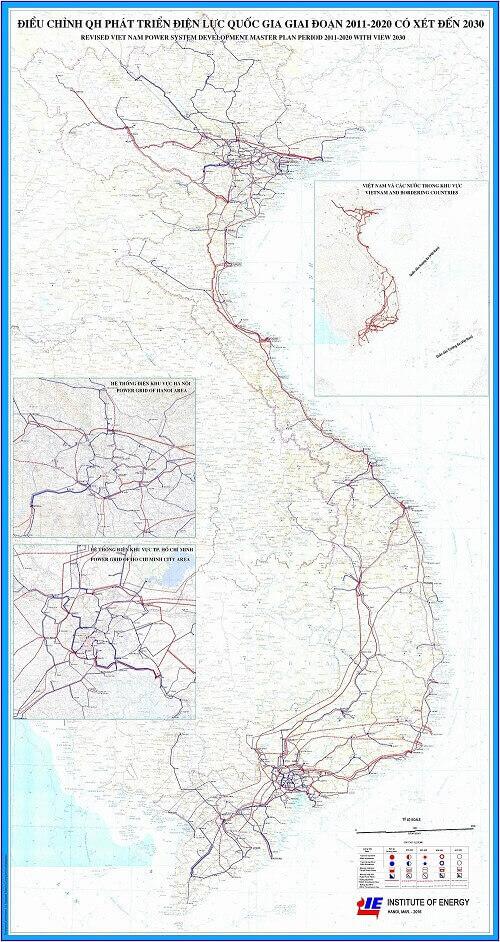 Bản Đồ Quy Hoạch Mạng Lưới Điện Việt Nam