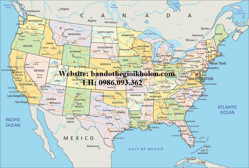 Bản Đồ Nước Mỹ